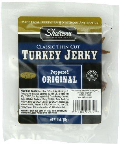 (Shelton Poultry Turkey Jerky, Original, 0.50-Ounce (Pack of 12) by Shelton's)