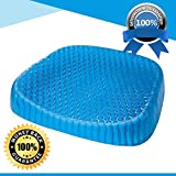 #6: Orthopedic Egg Sitter Gel Seat Cushion | Portable & Comfortable Gel Pillow For Office, Car, Wheelchair & Airplane Seats | Breathable Cooling Structure | Non Slip Washable Cover | Relieves Pressure
