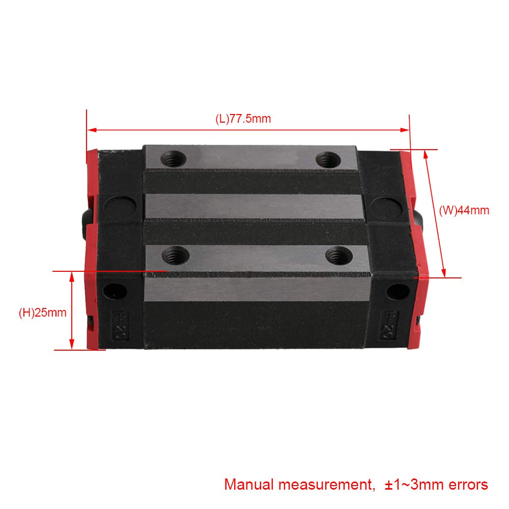 HGW15CC Flanschlager Stahl Linearf/ührungsschiene Gleitblock Schlittenschienenblock f/ür HR15 Linearschienenf/ührungen