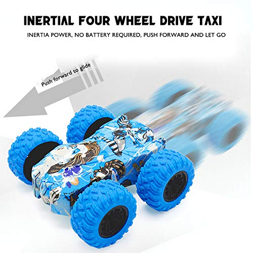 Four-Wheel Drive Off-Road Toy Car,360 Degree Rotating Off-Road Toy Car,no Battery Inertial Double-Sided Stunt Friction Power