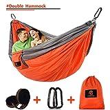 Chantpower Outdoor Double Camping Hammock, Ultralight Portable Nylon Parachute Hammocks for Backpacking, Hiking, Travel, Beach, Yard