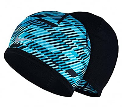 Nike Men's Run Hazard Beanie, Blue Lagoon/Black/Reflective Silver, One Size