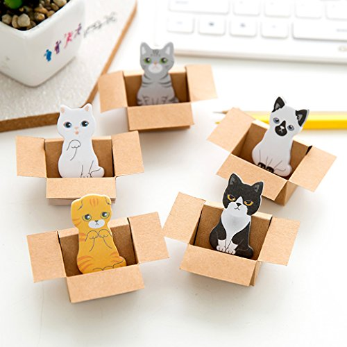 Forgun Cute Kitty House Cat Dog Bookmark Sticker Sticky Notes Paper Pad Bookmarks