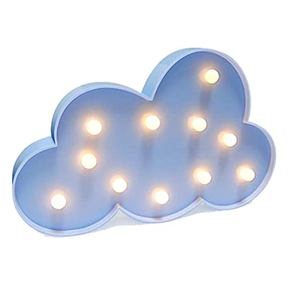 3d Cloud Lamp Sign Night Light Children S Bedroom Home Decorate