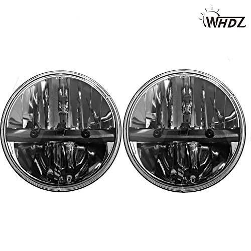 WHDZ 7 Inch Round Led Headlight for Jeep Wrangler CJ JK TJ Motorcycle Offroad Vehicles (Pack of 2) ()