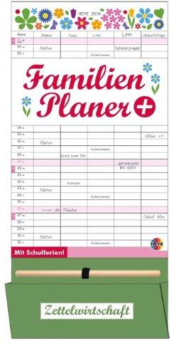 Familienplaner plus Tasche 2014: Mit Schulferien. 5 Spalten