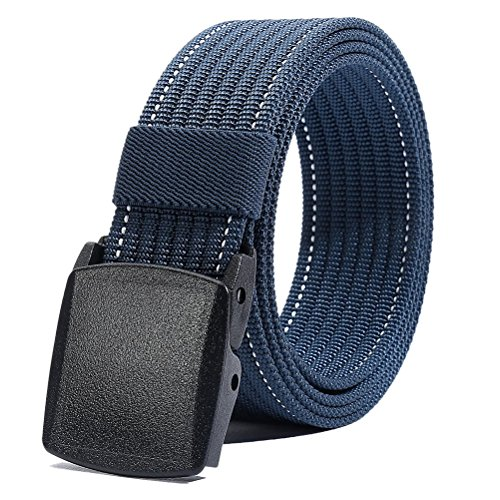 Nylon Belt Men, Military Tactical Belt with YKK Plastic Buckle, Durable Breathable Waist Belt for Work Outdoor Sports,Adjustable for Pants Size Below 46inches[53