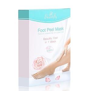 Beautifly Upgraded 2020 Foot Peel Socks 2 Pairs, Nature Treatment Exfoliating Calluses, Dry, Dead Skin in 1week, Suitable for all Kinds of Skin – Safe & Effectrive foot peeling Socks & Booties.