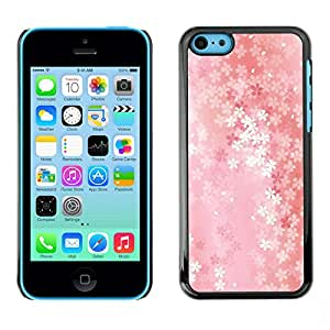 Paccase / SLIM PC / Aliminium Casa Carcasa Funda Case Cover - Floral pattern - Apple Iphone 5C