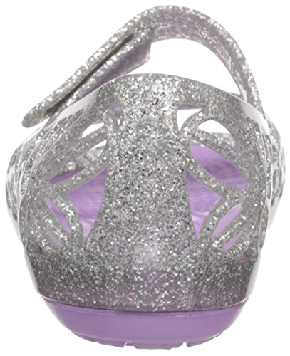 silver Argento Ps Con iris Ballerine Basse Crocs Bambina Punta Isabella Aperta Glitter zqvfWxwpO