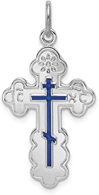 925 Sterling Silver Eastern Orthodox Cross Religious Pendant Charm Necklace Fine Jewelry Gifts For Women For Her