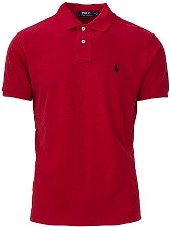 Ralph Lauren Mens Polo Custom Slim Fit Polo, L, Red