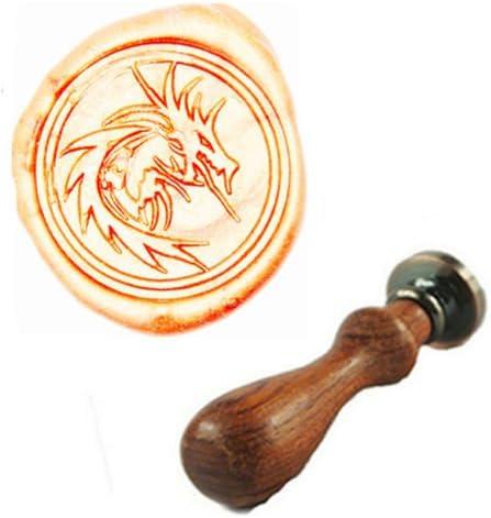 MDLG Vintage Filigree Fire Dragon Custom Picture Logo Wedding Invitation Wax Seal Sealing Stamp Sticks Spoon Gift Box Set Kit