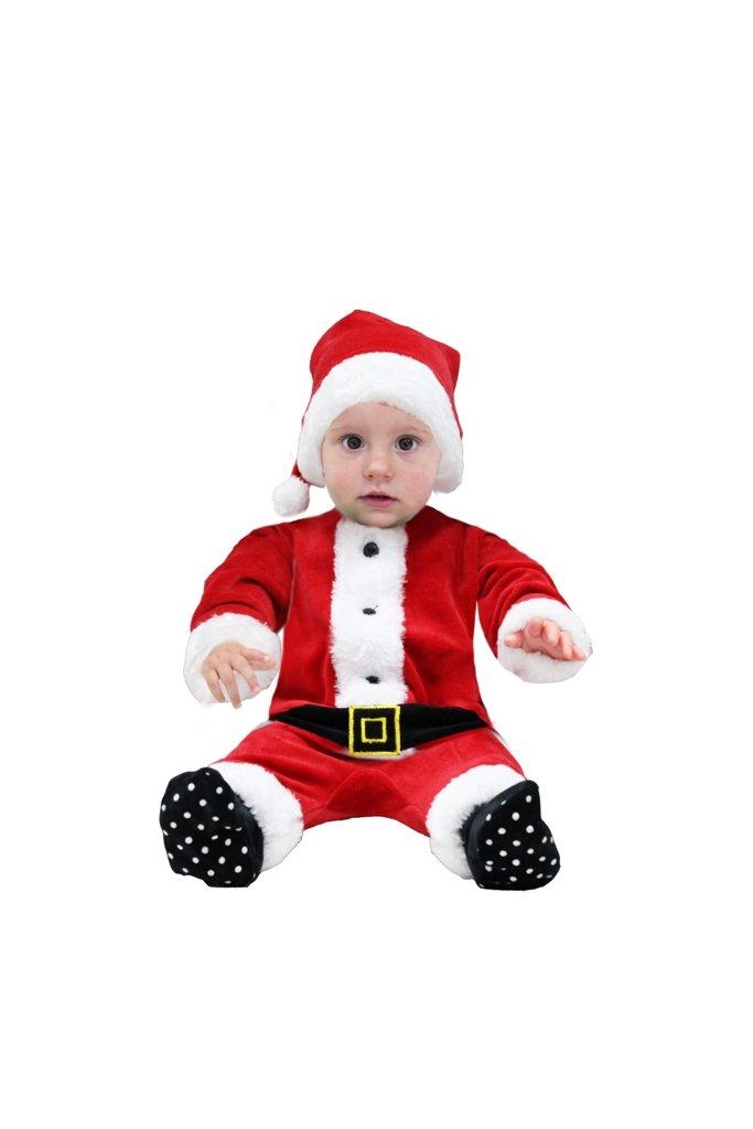tutina ciniglia babbo natale neonato con cappello (50-56 cm 0-3 mesi) misa