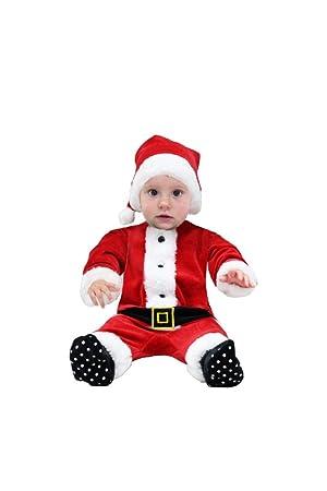 Pelele de chenilla de Papá Noel para bebé con gorro rojo 68 ...