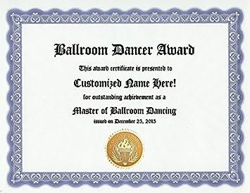 amazon com ballroom dancing dancer award personalized custom