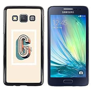 Be Good Phone Accessory // Dura Cáscara cubierta Protectora Caso Carcasa Funda de Protección para Samsung Galaxy A3 SM-A300 // g letter poster 3d art yellow red white