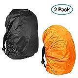 Waterproof Backpack Rain Cover(2-Pack), KIKAL 30-40L...