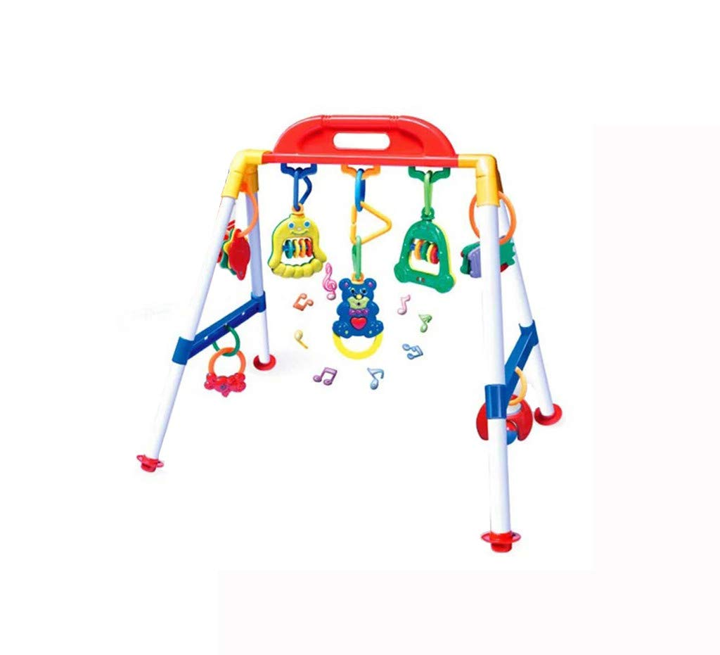 Ikevan_ Multifunctional Fitness Frame with Educational Gym Toy Rattle for Baby Kid Boy Girl