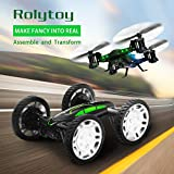 RC Drones for Kids, Drone with 720P Live Camera, Rolytoy Remote Control Off-Road Car Wifi Quadcopter Buggy 360°Flip Flying Cars Headless Mode