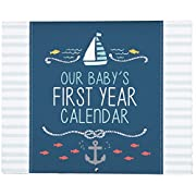 Carter's Blue Nautical First Year Calendar for Baby Boys, 11  L x 18  H, Includes Sticker Sheet