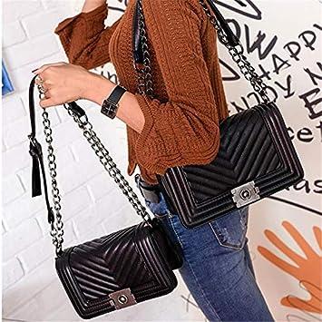 d46a9515ba4 Amazon.com: WHXYAA Luxury Handbags Women Bags Designer Chain Bag ...