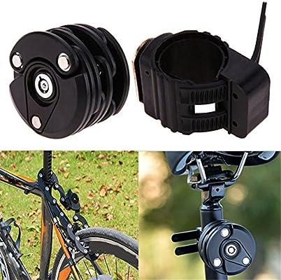 Homy Candado de seguridad plegable para bicicleta, Antirrobo ...