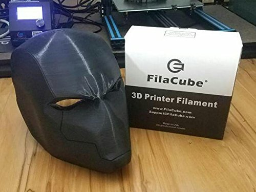Black [Out of 21 Colors] FilaCube 1.75mm 1 kg PLA 2 (PLA 2nd Generation) 3D Printer Filament Prints can be Sanded Like ABS for Painting Great for Cosplay mask Helmet Pure Real [Made in USA] pla+