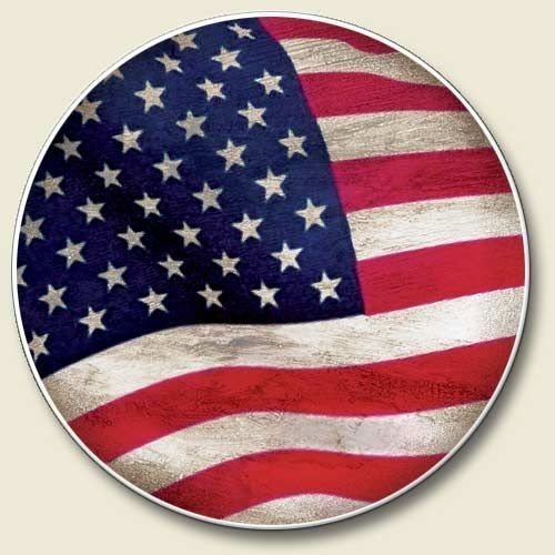 USA Flag Auto Coaster, Coaster for Your Car