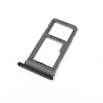 best authentic ce540 51a5b E-repair SIM Card Tray Holder Slot with Rubber Waterproof Gasket Ring  Replacement for Samsung Galaxy S8 and S8 Plus (Black, Single SIM)