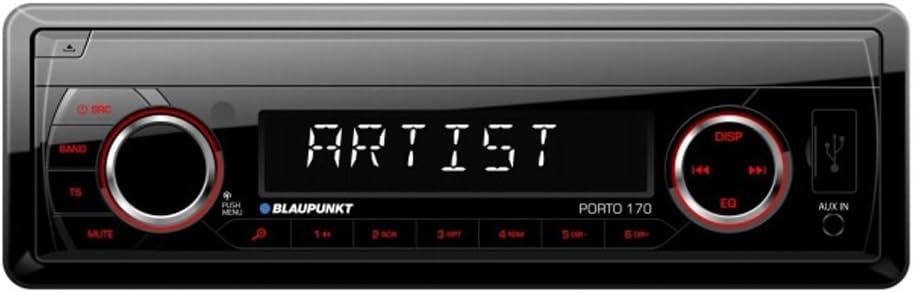 Blaupunkt Autorradio Deckless Porto 170 USB, SD, MP3, Negro