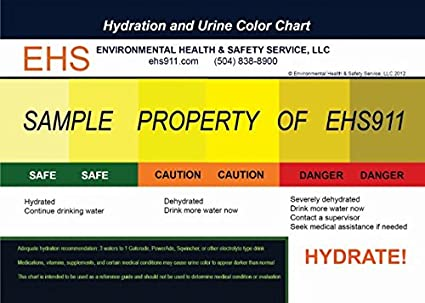 AmazonCom  Heat Stress Hydration And Urine Color Comparison
