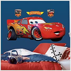 DISNEY CARS BiG Wall Mural Stickers Room Decor LIGHTNING MCQUEEN Decal RM5 Part 35