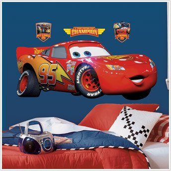 Great DISNEY CARS BiG Wall Mural Stickers Room Decor LIGHTNING MCQUEEN Decal RM5