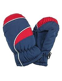 CTM® Kid's Waterproof Ski Mittens, Multi