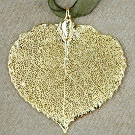 Aspen Leaf Gold Plated Ornament - Ornament Gold Leaf