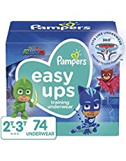 Pampers Potty Training Underwear for Toddlers, Easy Ups Diapers, Training Pants for Boys and Girls, Size 4 (2T-3T), 74 Count, Super Pack (Packaging May Vary)