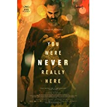 "YOU WERE NEVER REALLY HERE 13.5""x20"" Original Promo Movie Poster Joaquin Phoenix 2017"