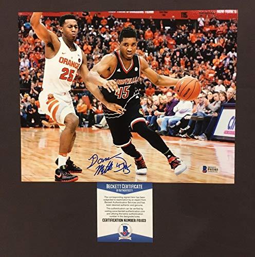 Donovan Mitchell Autographed Signed Memorabilia Louisville Cardinals 8x10 Photo - Beckett Authentic