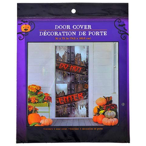 (LJIF Halloween Creepy Spooky Stickers Decor Home Window Gel Clings Decorations Haunted House Keep Out)