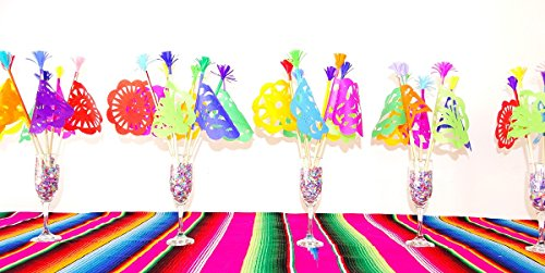 Mexican Party Flags, Cinco de Mayo party decorations, Cinco de mayo photo booth props, PAPER Papel Picado, Mexican Party Decor, Mexican theme Weddings, Fiesta Engagement Party Decor Set of 5 Flags (Mexican Wedding Flags)