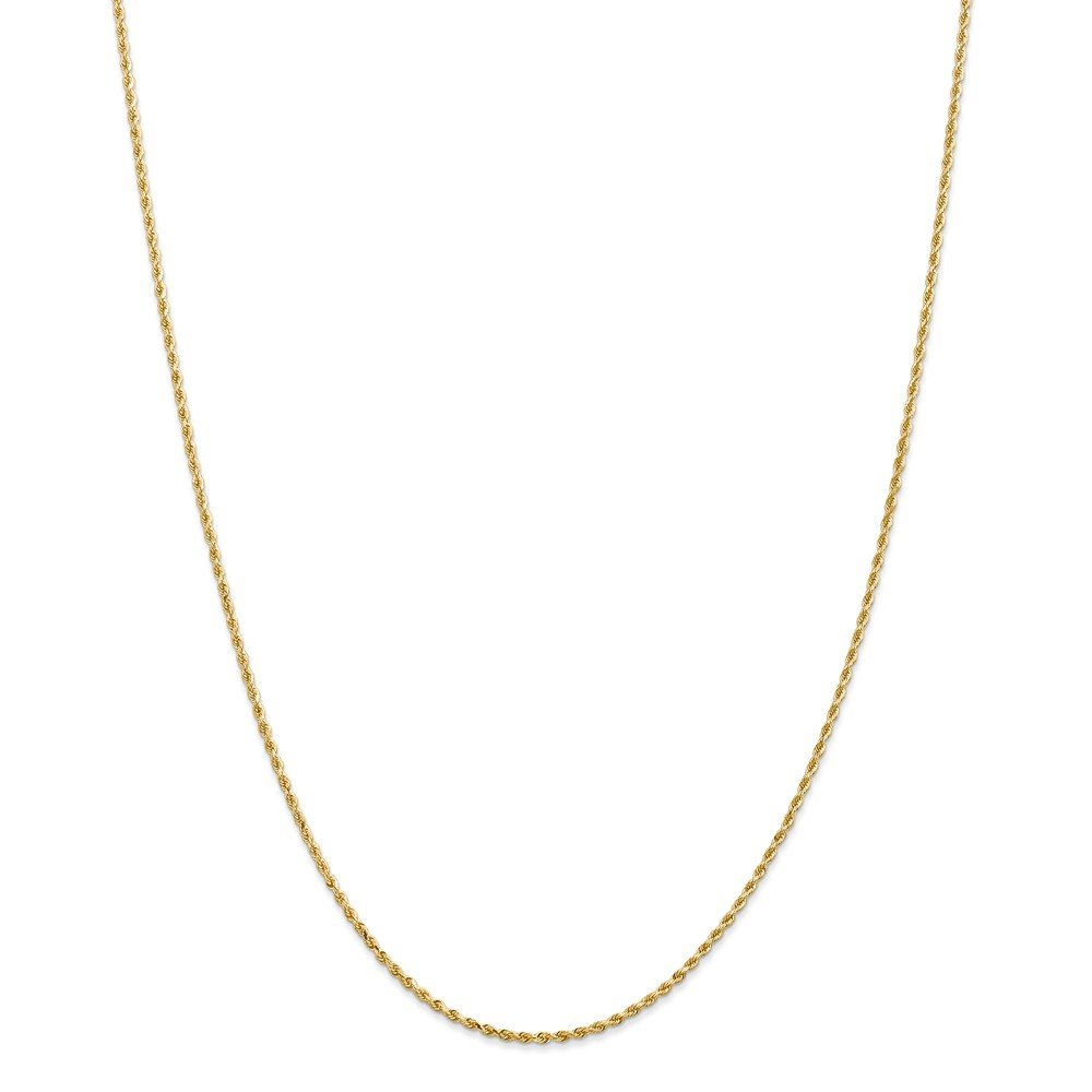 14k 1.5mm Diamond-cut Rope with Lobster Clasp Chain 20 INCH