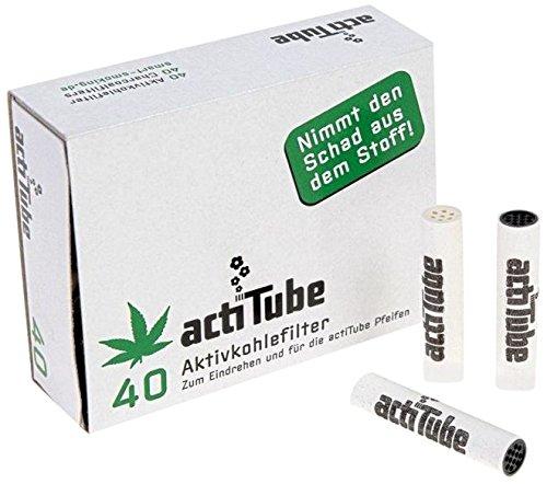 Unbekannt actiTube - filtros de Charcoal activados para rodar 9 mm - 1 Caja=40 filtros