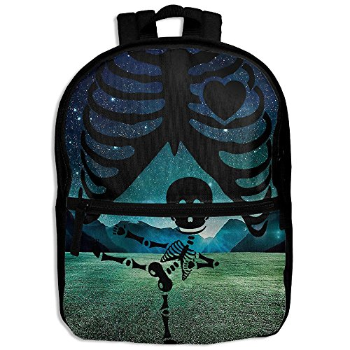 Halloween Pregnant Skeleton Ninja Hot Sale Child Shoulder School Bag School Backpack Satchel For Teens Boys Girls Students Black - Pregnant Teenager Costume