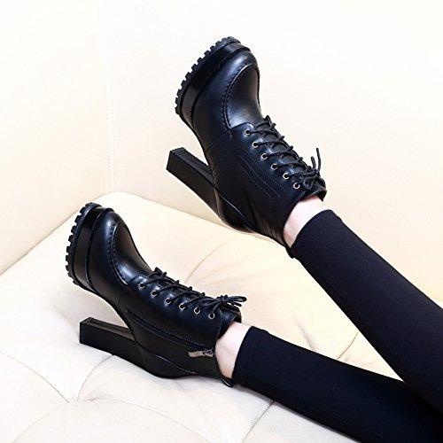 pila slittamento stivali nuova anti tacco ZHZNVX cinghia di black alto con di Corto spessore w7Cxn45qF