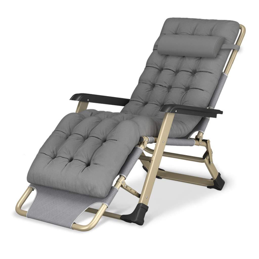折りたたみデッキチェア折りたたみベッドポータブルトラベル折りたたみチェアキャンプチェアビーチサンラウンジャーパティオガーデンチェア屋外リクライニングチェア (Color : E+cushion) B07SKP71RL E+cushion
