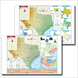 Thematic Map Of Texas.Texas State Thematic Pad Map Kappa Map Group 9780762578337 Amazon