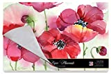Cala Home 24-Pack Disposable Paper Placemats, Fresh Poppies