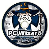 windows xp restore disc - PC Wizard - Automatic Drivers Recovery Restore Update for Sony VAIO Computers (Desktops and Laptops) on DVD Disc - Supports Windows 10, 8.1, 7, Vista, XP (32-bit & 64-bit)