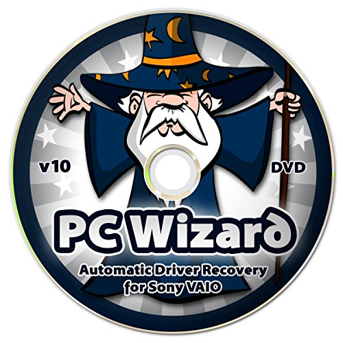 PC Wizard - Automatic Drivers Recovery Restore Update for Sony VAIO Computers (Desktops and Laptops) on DVD Disc - Supports Windows 10, 8.1, 7, Vista, XP (32-bit & 64-bit)